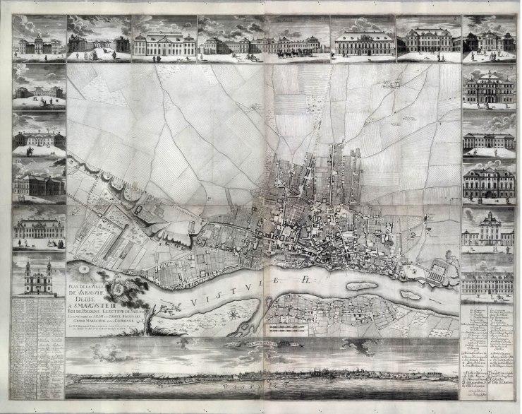 Plan Warszawy z 1762 r. P. R. de Tirregaille'a