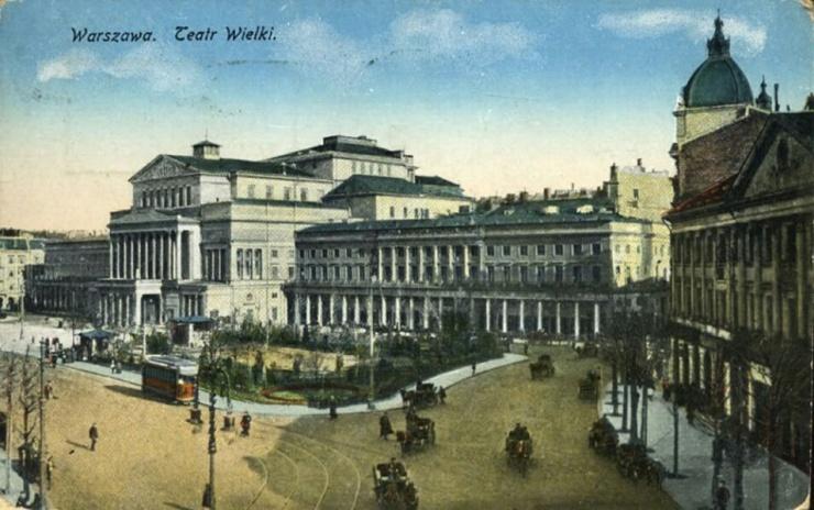 Teatr Wielki i Plac Teatralny pod koniec XIX wieku