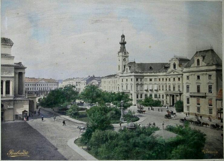 Przedwojenny ratusz Warszawy przy Placu Teatralnym