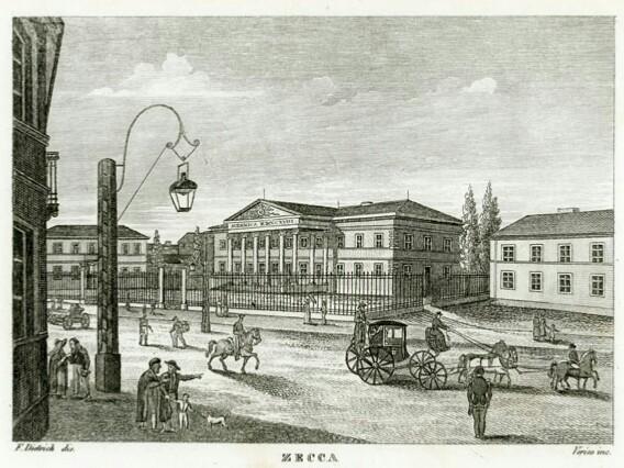Mennica Warszawska z czasów Stanisława Augusta na rycinie z 1831 r.