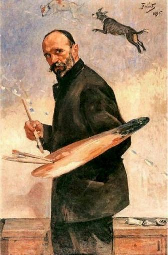 Julian Fałat. Autoportret.