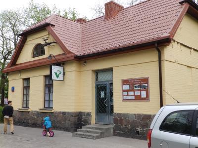Odnowiony budynek stacji kolejki jabłonowskiej w Falenicy. Foto: archiwum net
