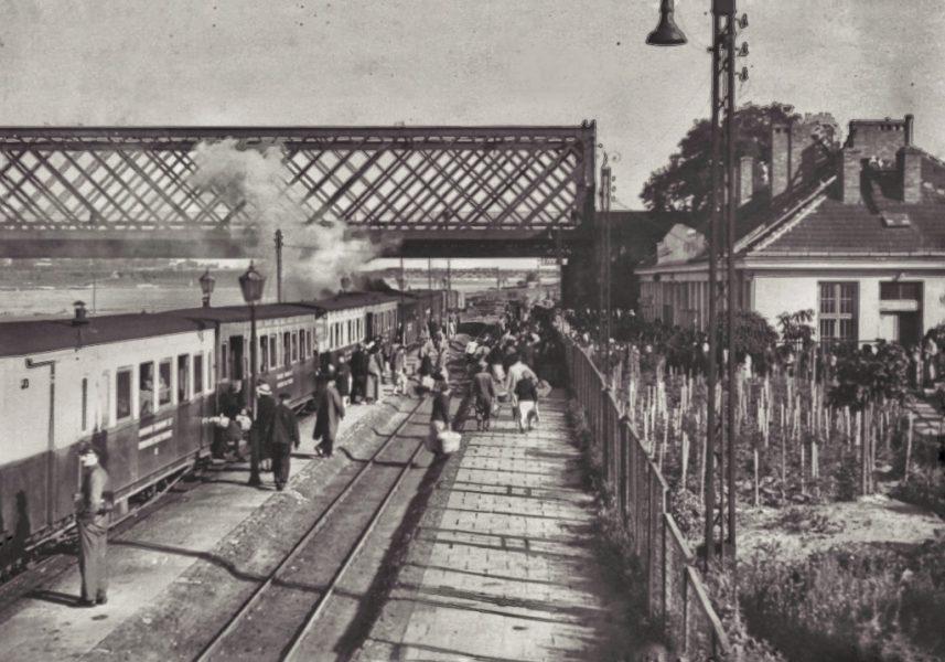 Stacja Most. Zdjęcie ze zbiorów Muzeum Pragi.