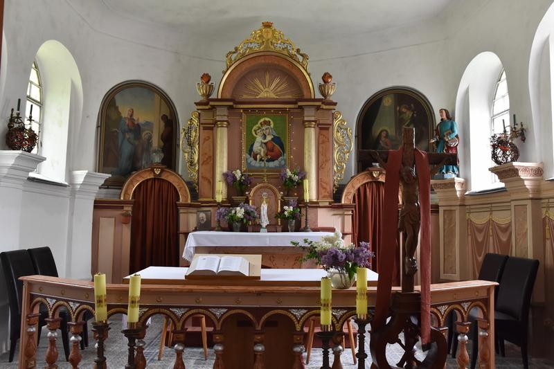 Ołtarz kaplicy na Cierniaku