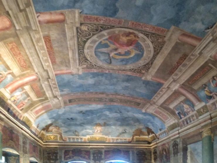 Hellbrunn. Pałac arcybiskupa. Sala reprezentacyjna na pierwszym piętrze. Foto Liliana Kołłątaj