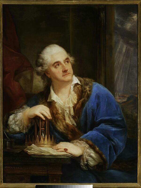Stanisław August Poniatowski. Portret z klepsydrą~01