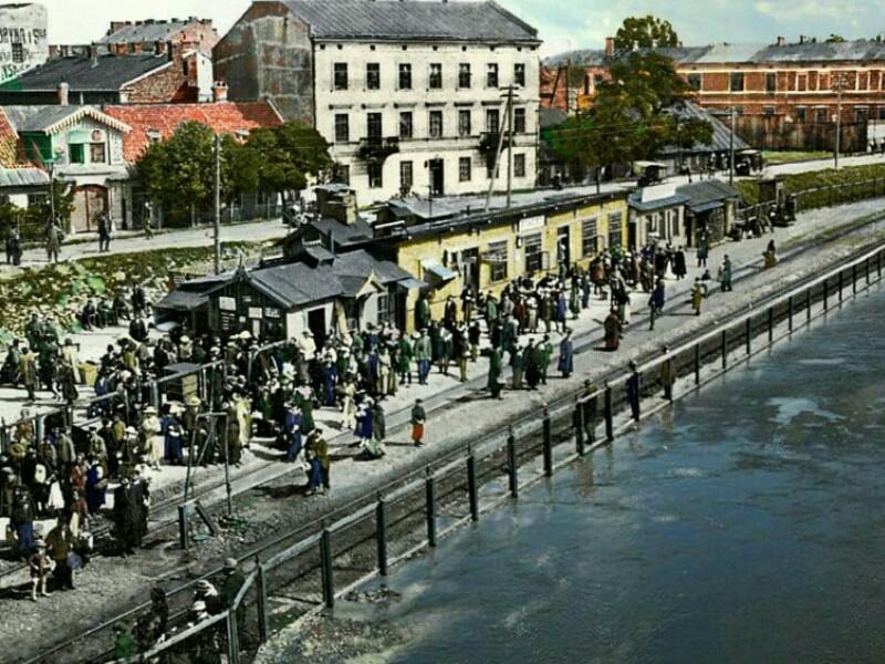 Stacja Most i dom Wendów. 1915 r