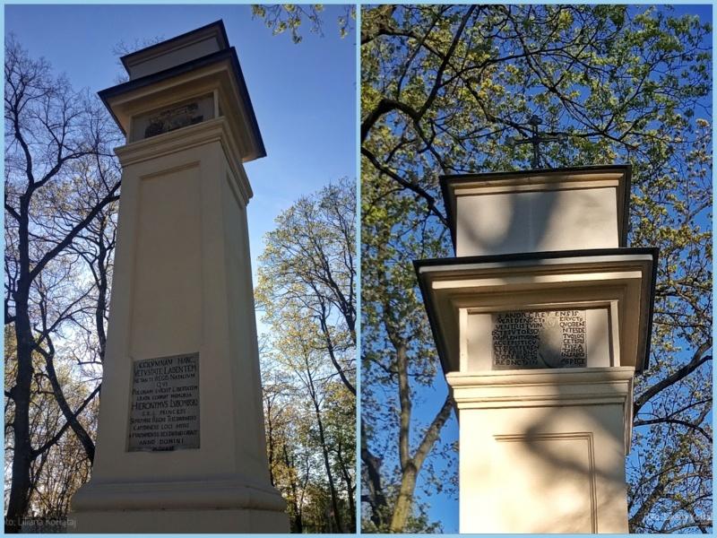 Kozienice. Obelisk upamiętniający narodziny Zygmunta Jagiellończyka.