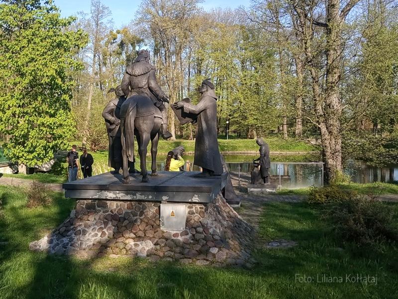 Kozienice. Pomnik Jagiełły