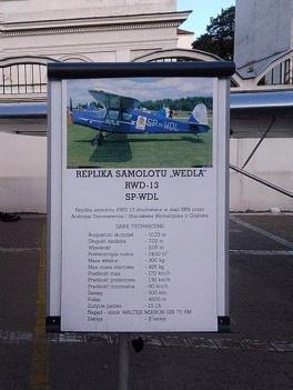 Replika RWD 13, samolotu firmowego Wedla