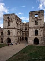 Zamek Krzyżtopór. Fragment dziedzińca