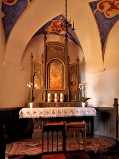 Baranów Sandomierski. Oltarz w kaplicy