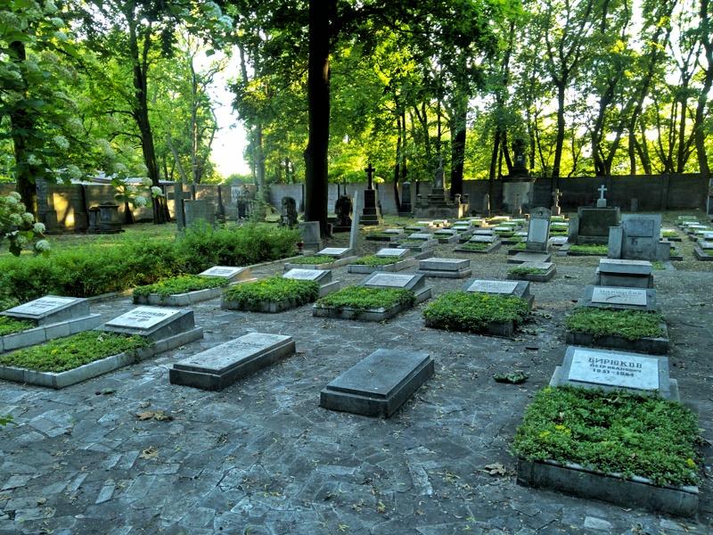 Warszawa Wola. Cmentarz prawosławny. Kwatera budowniczych Pałacu Kultury