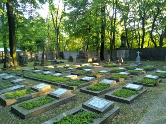 Warszawa Wola. Cmentarz prawosławny. Kwatera żołnierzy 1945 roku