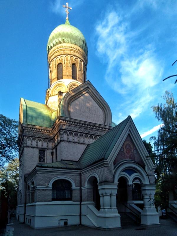 Warszawa Wola. Cmentarz prawosławny. Cerkiew sw. Jana Klimaka